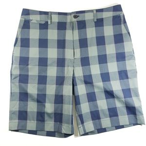 Mens Under Armour plaid casual shorts sz 34 E7